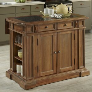 Collette Kitchen Island with Granite Top by August Grove