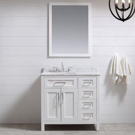 Ove Decors Tahoe 36 Single Bathroom Vanity Set With Mirror In White Reviews Wayfair