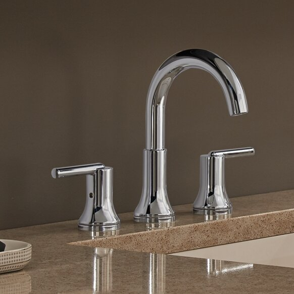 Delta Trinsic® Bathroom Widespread Bathroom Faucet with Drain ...