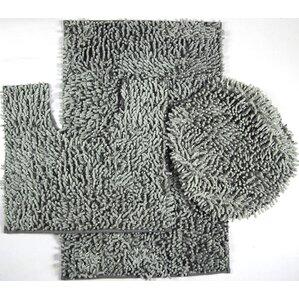 Van Wyck 3 Piece Mix Chenille Bath Mat Set