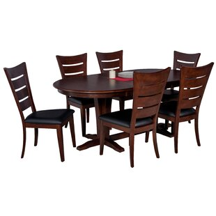 Doretha 7 Piece Solid Wood Dining Set