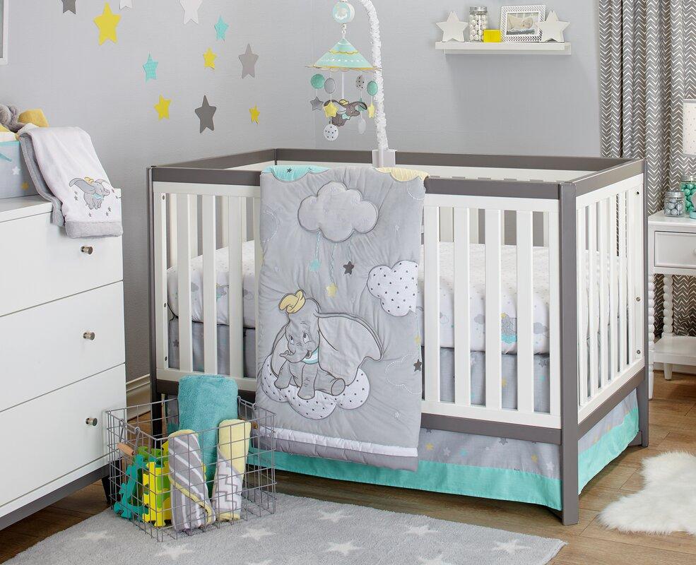 Disney Dumbo Dream Big 3 Piece Crib Bedding Set & Reviews