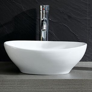Fine Fixtures Modern Oval Vessel Bathroom Sink & Reviews   Wayfair