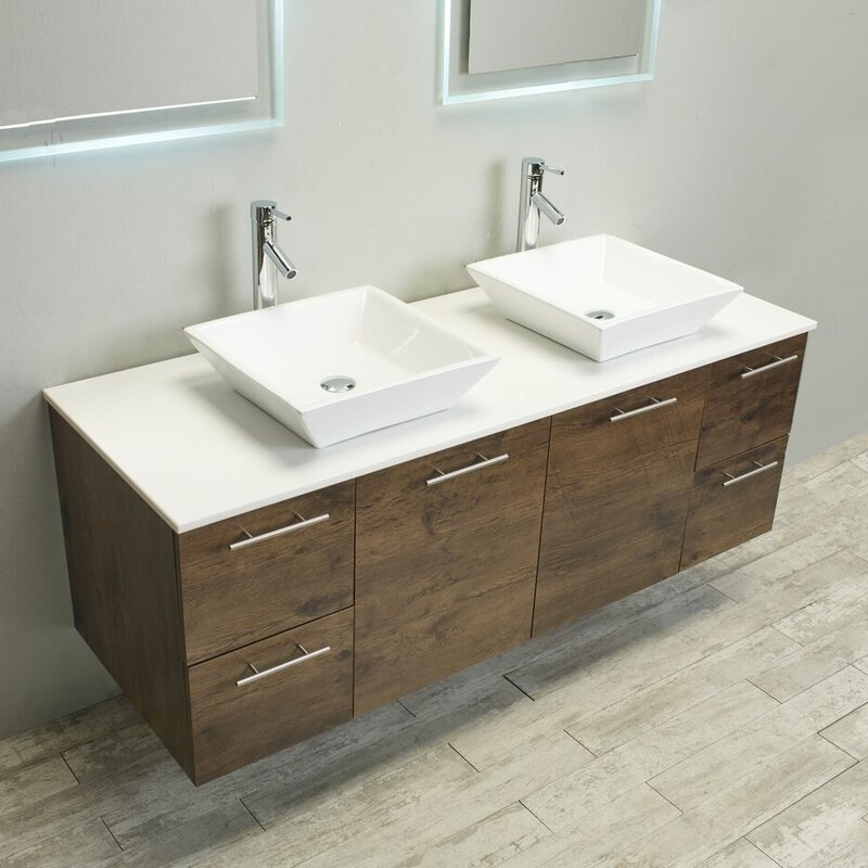 "eviva luxury 60"" bathroom vanity 