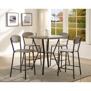 Felicia 5 Piece Counter Height Dining Set