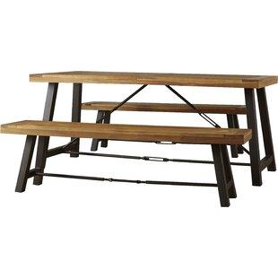 Beau Benigna 3 Piece Wood Picnic Table