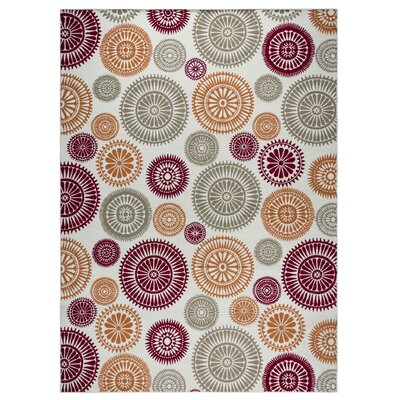 Andover Mills Priscila Orange/ Red/ Green/ Indoor/Outdoor Area Rug Rug Size: Rectangle 3'3 x 5'3