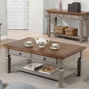 Farmhouse Rustic Coffee Tables Birch Lane - Distressed wood and metal coffee table