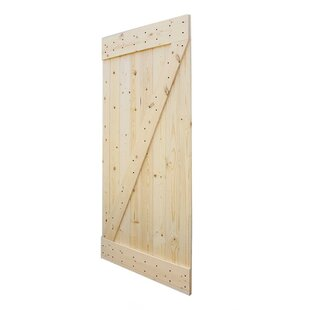Wood 1 Panel Unfinished Interior Barn Door