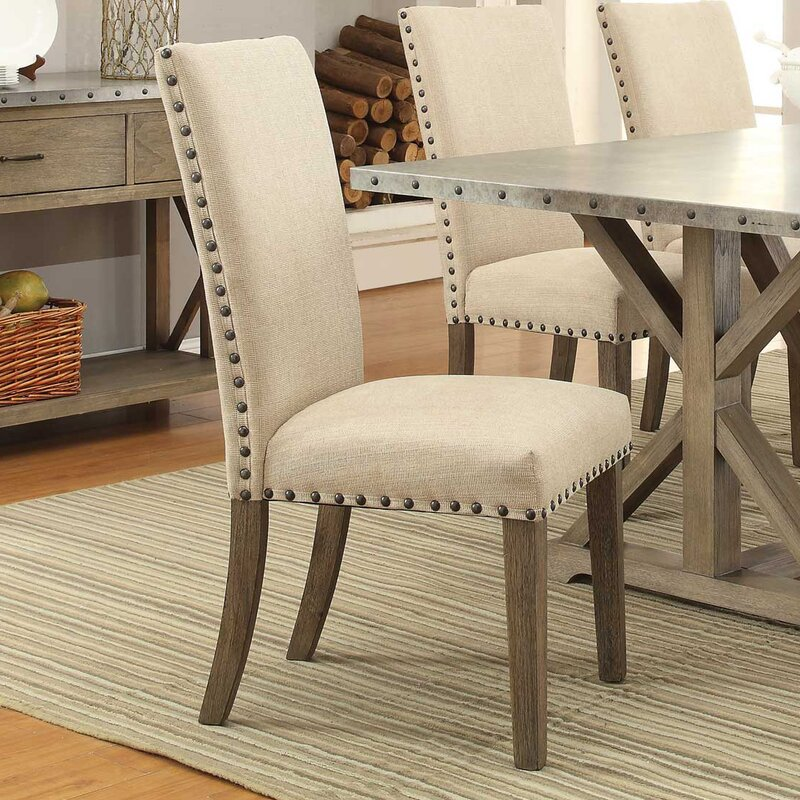 Upholstered Dining Chair Parsons Armless Brown Design: Lark Manor Mirmande Parsons Chair & Reviews