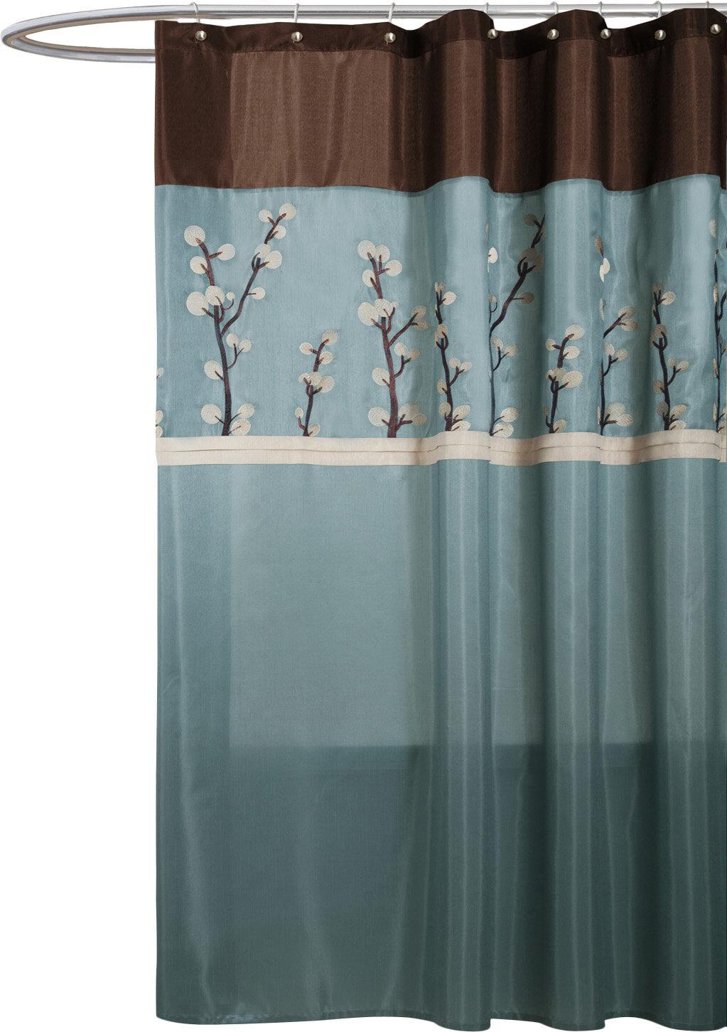 Alcott Hill Kozak Embroidered Shower Curtain