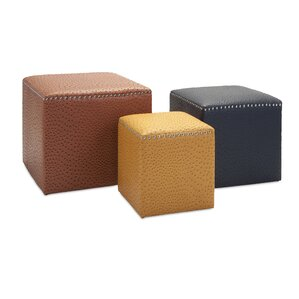 Bosserman 3 Piece Ottoman Set by Mercer41