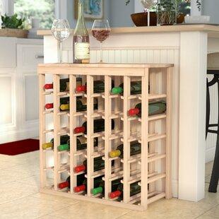 Karnes Pine 36 Bottle Floor Wine Rack