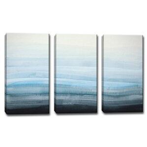 U0027Coastal Mistu0027 3 Piece Painting Print On Wrapped Canvas Set. U0027 Part 47