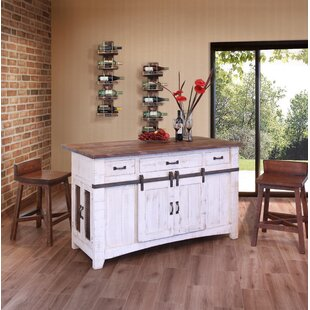 Coralie 3 Drawer Kitchen Island Set