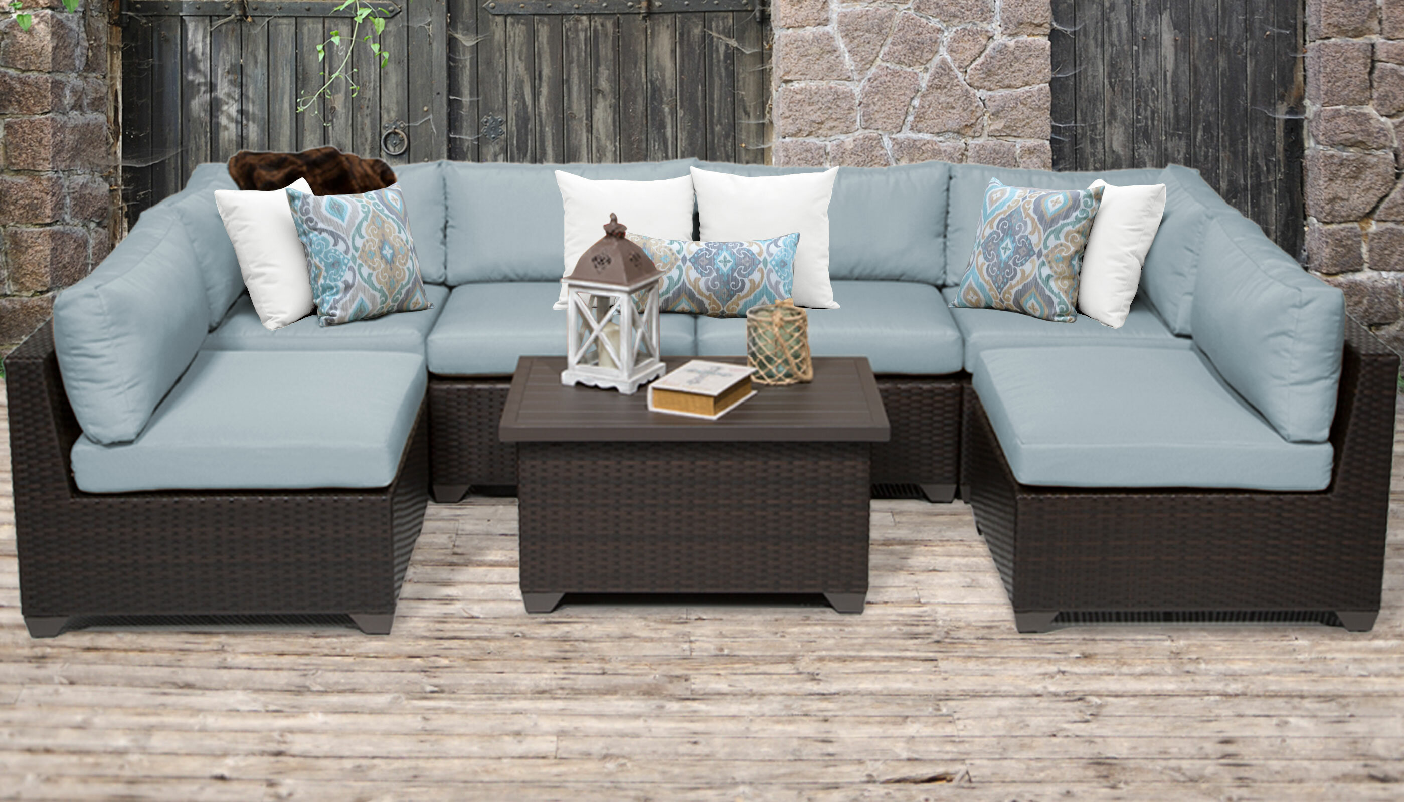 Rosecliff Heights Medley 7 Piece Sofa Seating Group With