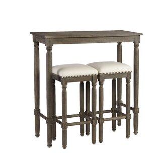 Abree 3 Piece Pub Table Set  sc 1 st  Wayfair & Pub Table Sets Youu0027ll Love | Wayfair