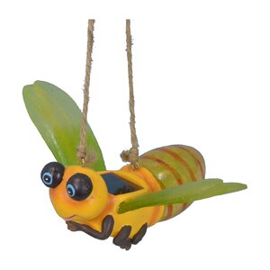 Bumble Bee With Solar Hanging Figurine Wall Decor