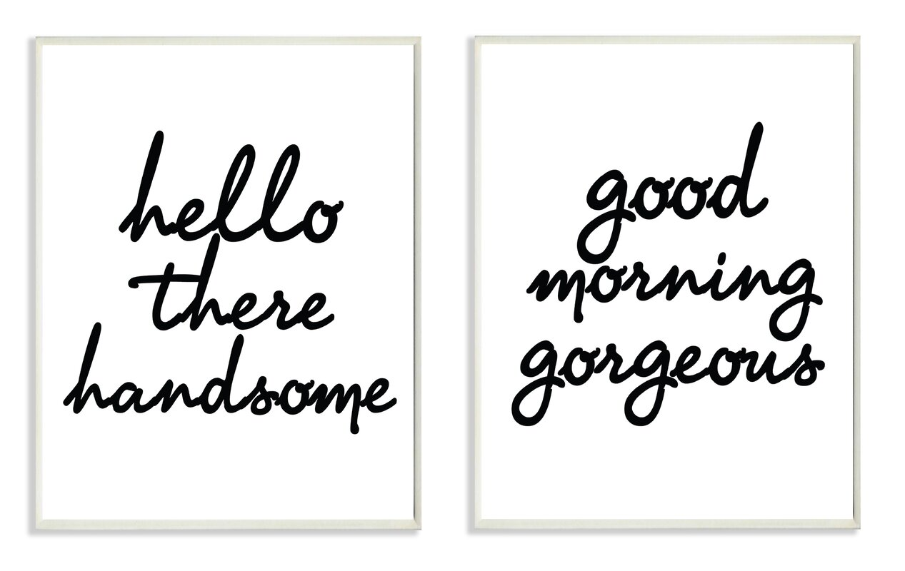 Hello There Good Morning 2 Piece Wall Plaque Set