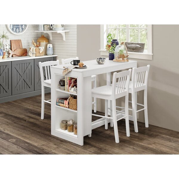 Alcott Hill Amandes Solid Wood Dining Table Reviews Wayfair