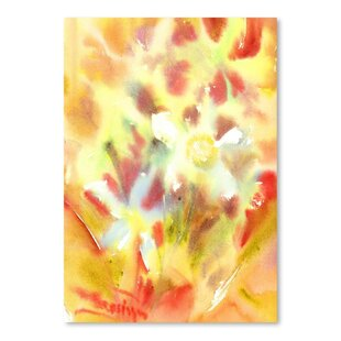 Yellow flower painting wayfair abstract yellow flowers painting print mightylinksfo