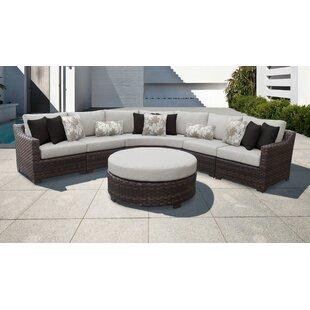 313c81ab13 kathy ireland Homes & Gardens River Brook 6 Piece Outdoor Wicker Patio  Furniture Set 06h