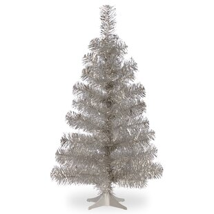 tinsel trees 3 silver artificial christmas tree and stand - Vintage Tinsel Christmas Tree