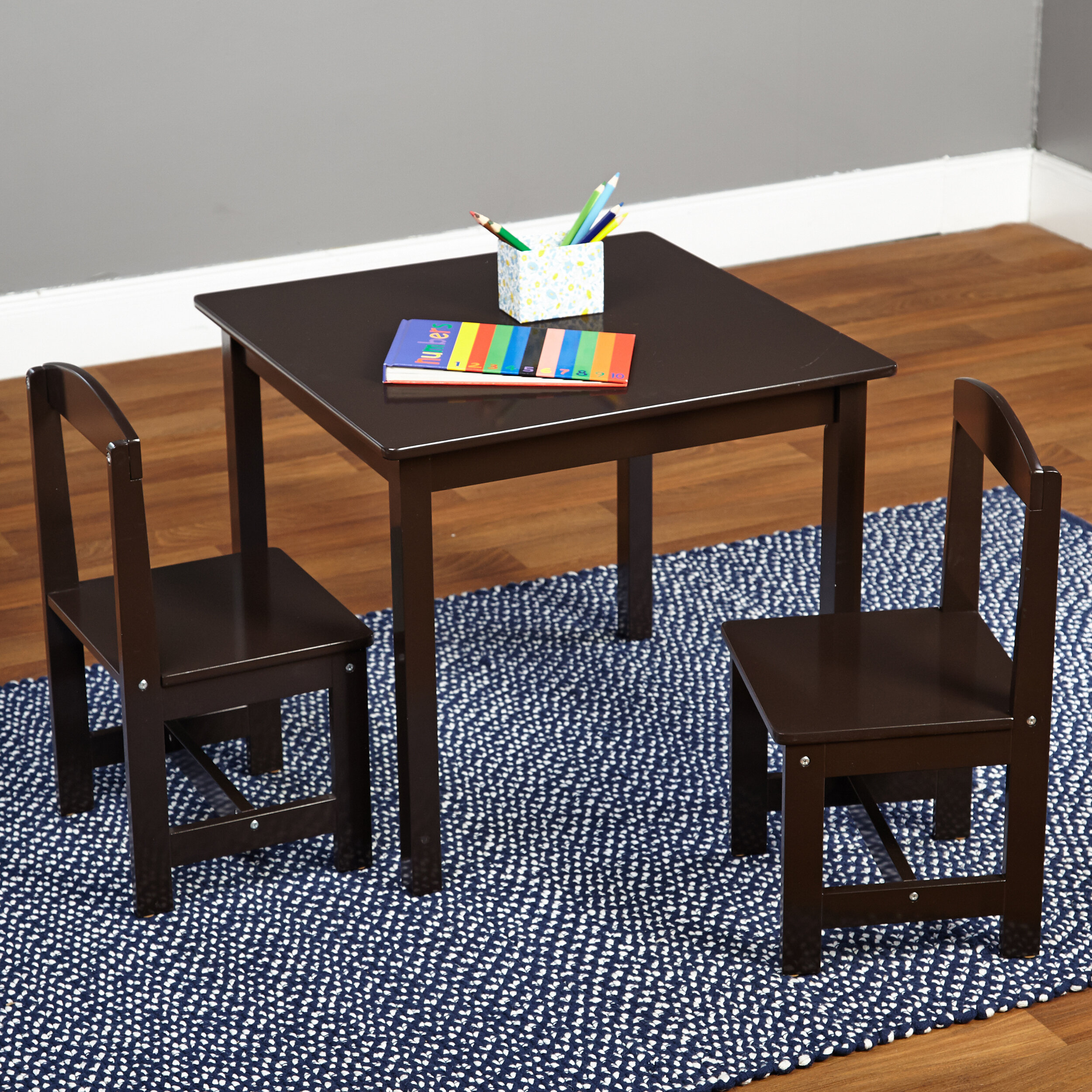TMS Hayden Kids 3 Piece Square Table U0026 Chair Set U0026 Reviews | Wayfair