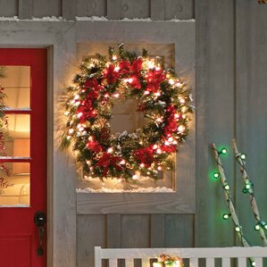 artificial christmas wreaths youll love wayfair