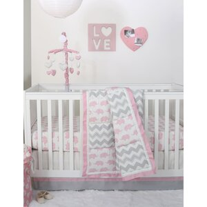 Ellie Pretty Patch 6 Piece Crib Bedding Set