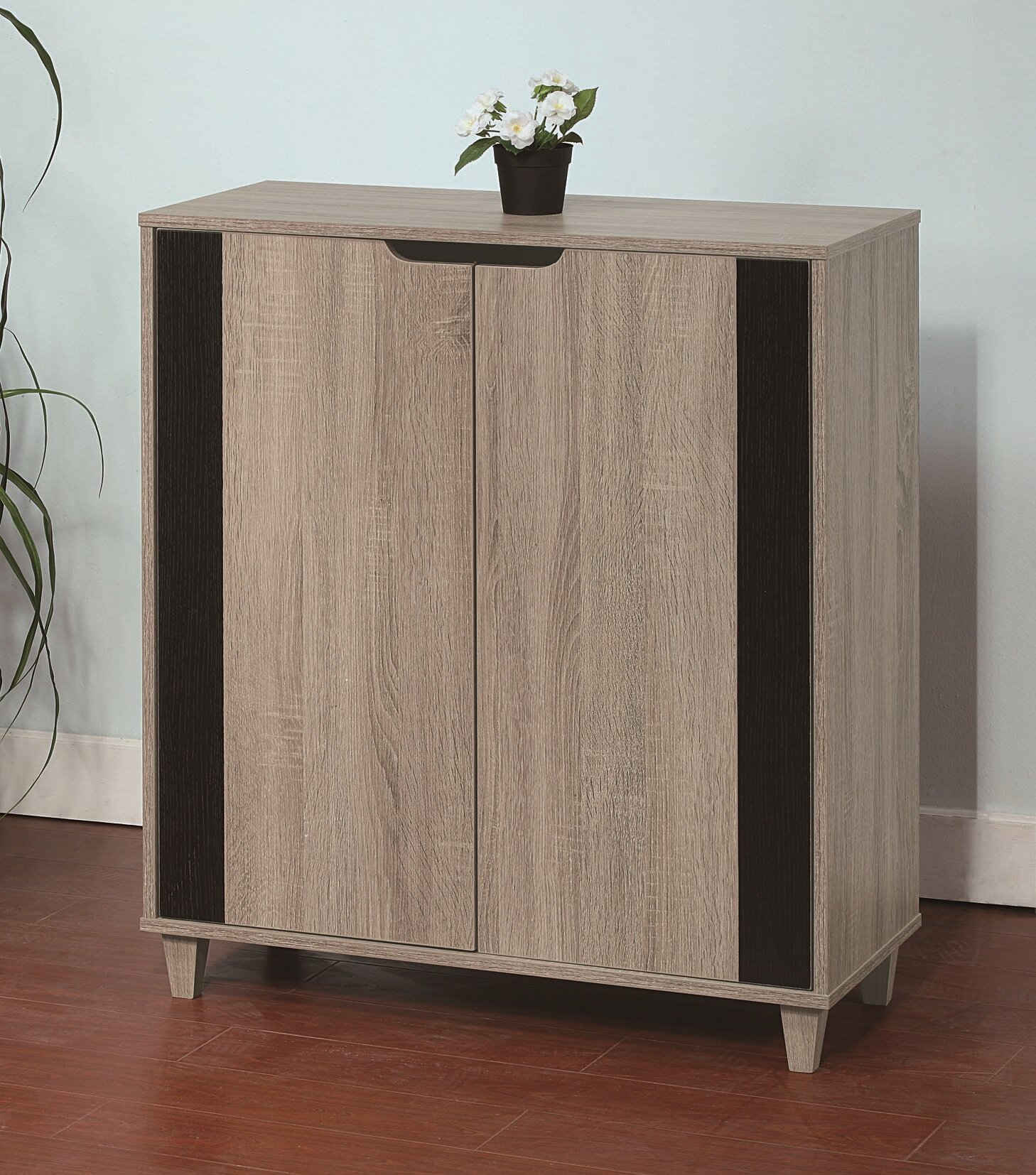 Latitude Run Wooden Entryway Shoe Storage Cabinet   Wayfair