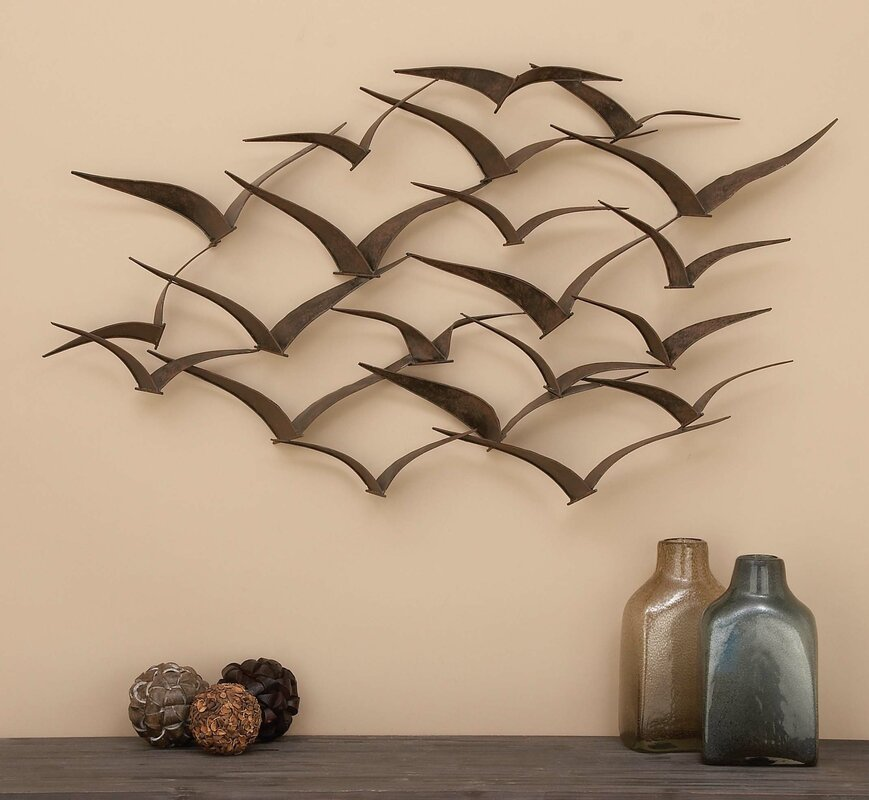 Metal Wall Decals Alluring Beachcrest Home Black Metal Birds Wall Décor & Reviews  Wayfair Design Ideas
