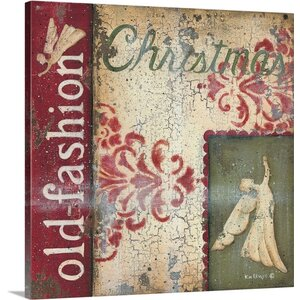Christmas Art 'Christmas Angel' by Kim Lewis Wall Art on Wrapped Canvas
