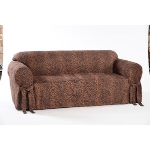 Classic Slipcovers Leopard Print Box Cushion Sofa Slipcover