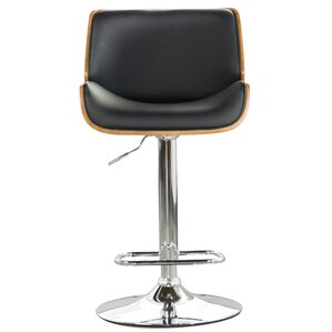 Chara Adjustable Swivel Bar Stool  sc 1 st  Wayfair & Leather Bar Stools Youu0027ll Love | Wayfair islam-shia.org