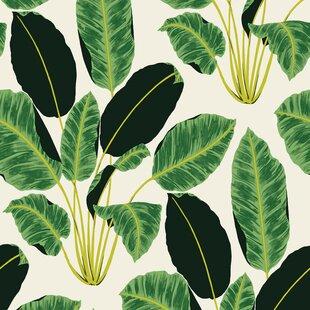 Ewalt Hojas Cubanas Emerald 33 L X 20 W Peel And Stick Wallpaper Roll