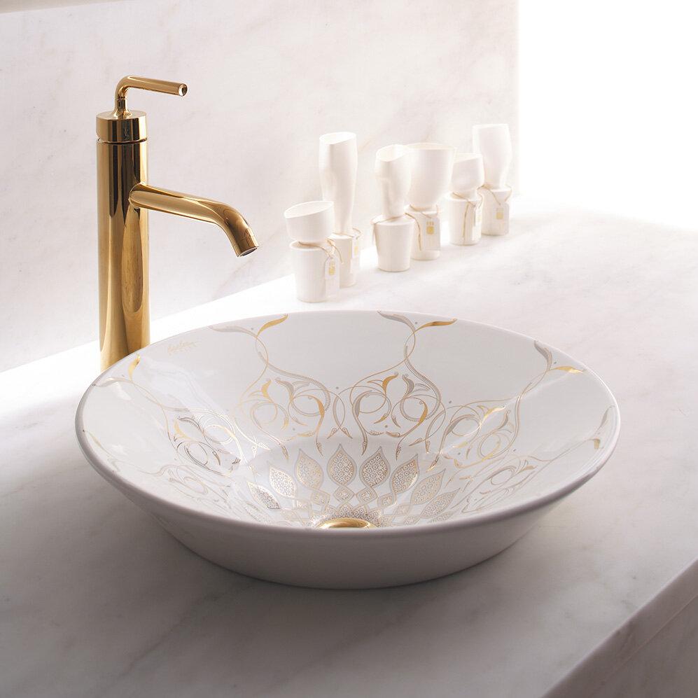 K-14223-SR2-0 Kohler Caravan Ceramic Circular Vessel Bathroom Sink ...