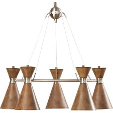 West Perrine 5-Light Shaded Chandelier