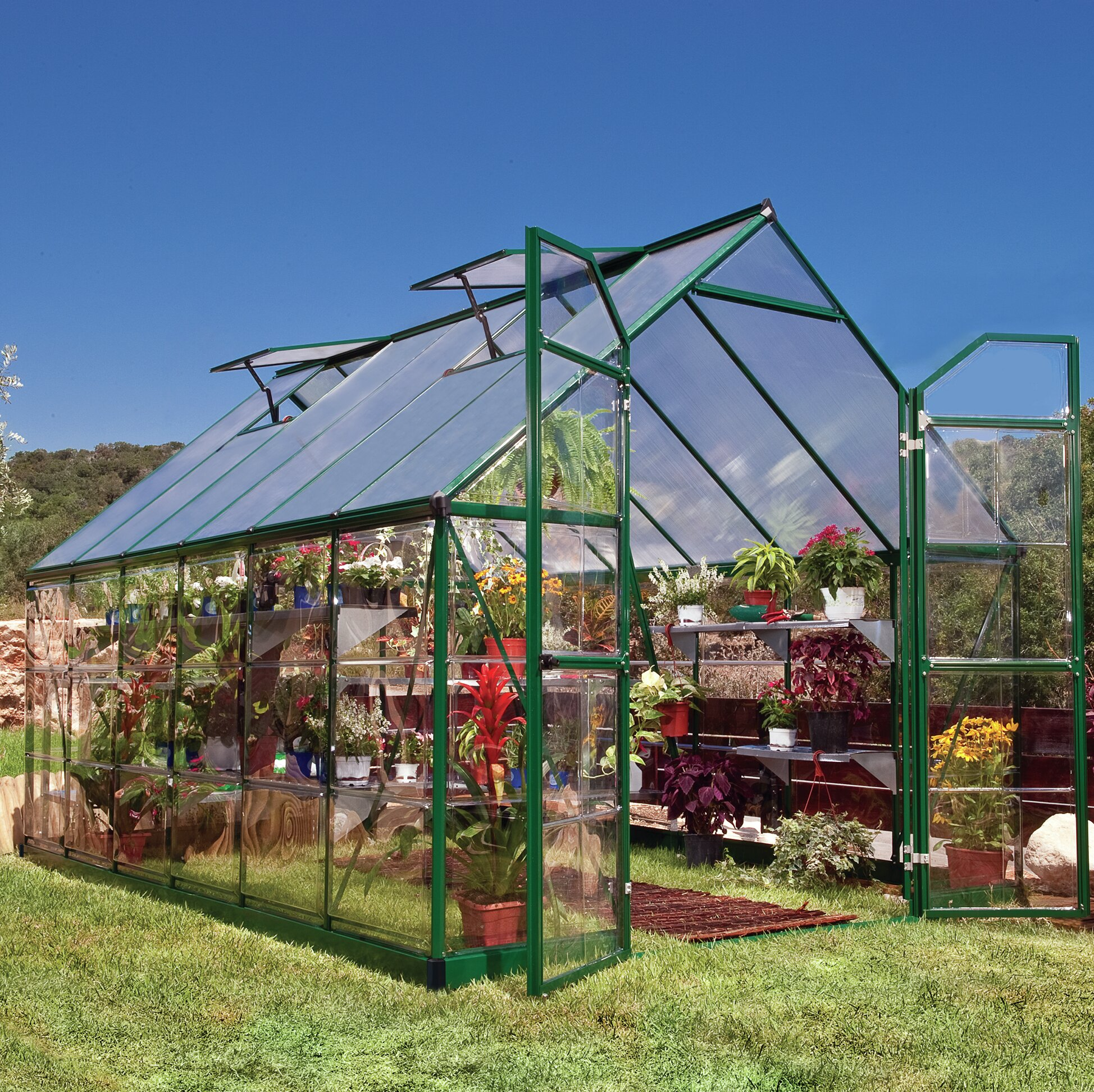 Balance 8 Ft  W x 12 Ft  D Greenhouse