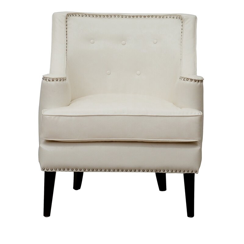 Grace Button Tufted Wing Back Chair
