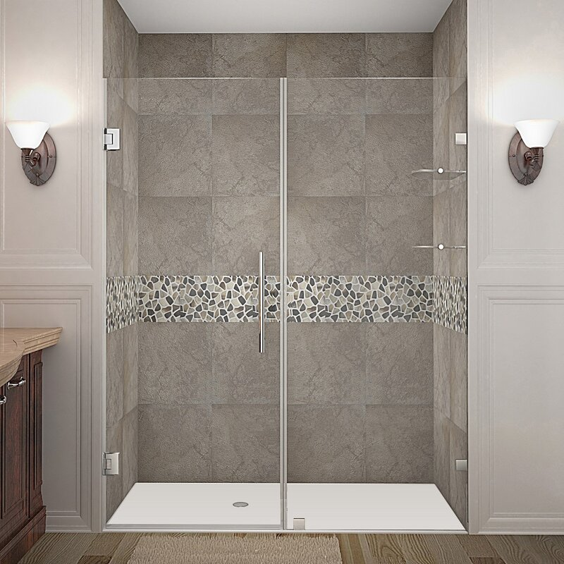 Nautis Gs 60 X 72 Hinged Completely Frameless Shower Door