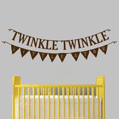 Twinkle Twinkle Little Star Banner Wall Decal  sc 1 st  Wayfair & SweetumsWallDecals Twinkle Twinkle Little Star Banner Wall Decal ...