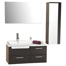 stella 36 single caro modern bathroom vanity set with mirror