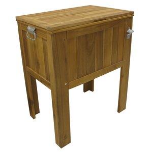 56 Qt. Amber Log Wooden Slat Country Cooler