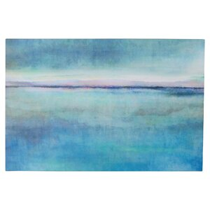 'Landscape Early' Painting Print on Wrapped Canvas in Blue