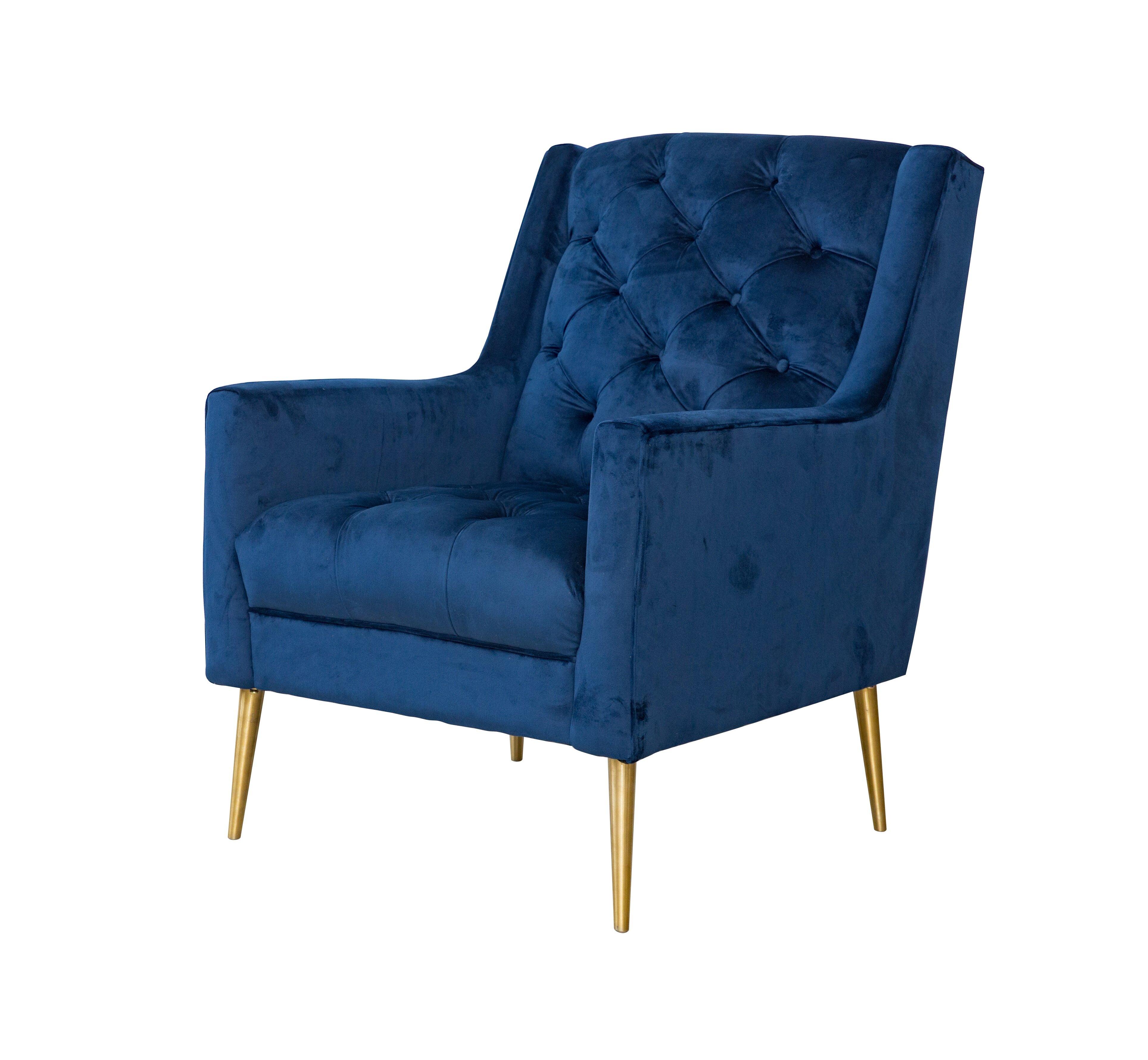 mercer41 delvale tufted wingback chair wayfair - Tufted Wingback Chair