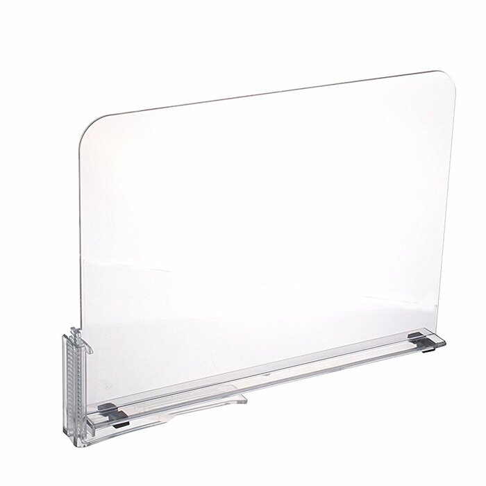 acrylic shelf dividers closet shelves organizer separator