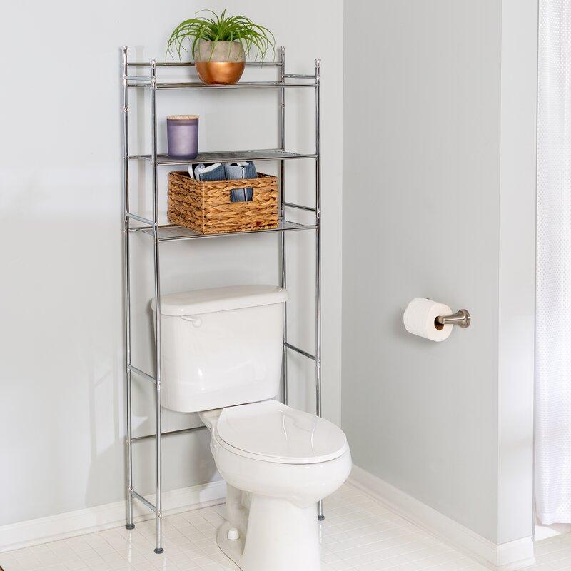 "stunning bathroom shelves over toilet storage | Wayfair Basics™ Wayfair Basics 22.83"" W x 59.84"" H Over ..."