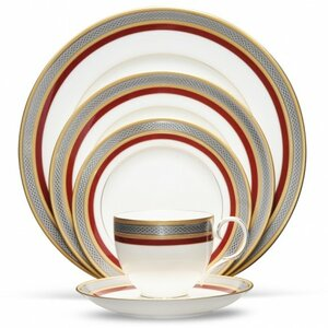 Ruby Coronet Bone China 5 Piece Place Setting, Service for 1