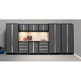 Superieur Bold 3.0 Series 10 Piece Garage Storage Cabinet Set With Worktop